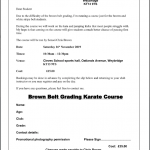 Brown Belt Grading Course